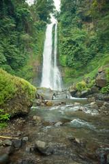 Waterfall in Bali jungle