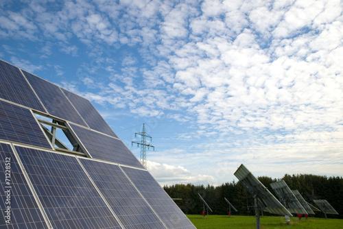 canvas print picture Solarzellen