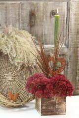 Florale Herbstdekoration