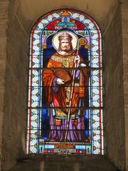 Cher - Mehun-sur-Yèvre - Vitrail St Germain de l'église