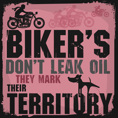 Abstract bikers label or poster