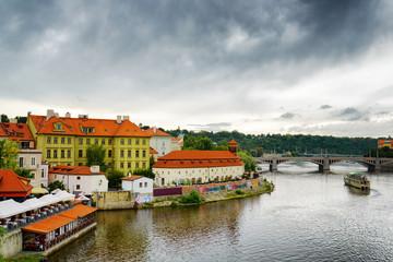 View of the Lesser Town (Little Quarter) in Prague, Czech Republ