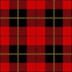 Red Tartan Plaid Pattern