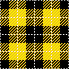 Yellow Tartan Plaid Design