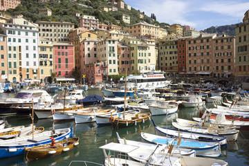 Hafen von Camogli,Ligurien,Italien