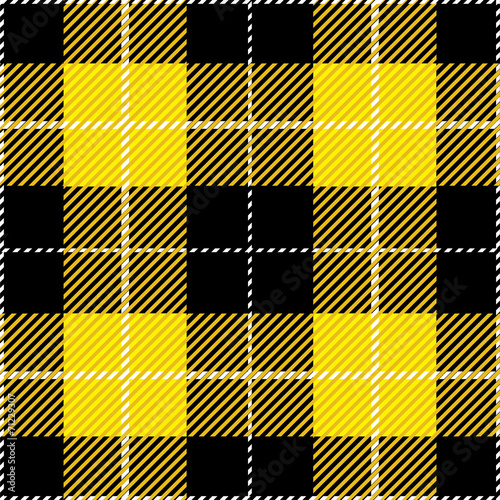 Fotobehang Stof Yellow Tartan Plaid Design