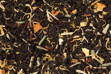 A mixture of black tea and herb.