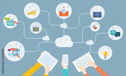 vector business online network on device application - 71229996