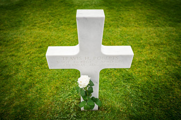 White crosses in American Cemetery, Coleville-sur-Mer, Omaha Bea
