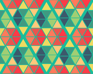 geometric green yellow blue red color  pattern background