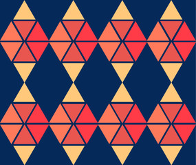 geometric yellow blue red color  pattern background