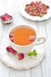 canvas print picture - Rose tea