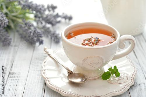 Fotobehang Thee Lavender tea
