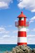 Leinwanddruck Bild - Leuchtturm am Ozean