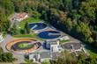 vue aérienne d'une station d'épuration