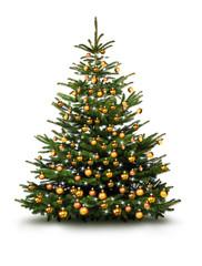 Christbaum mit Goldenen Kugeln