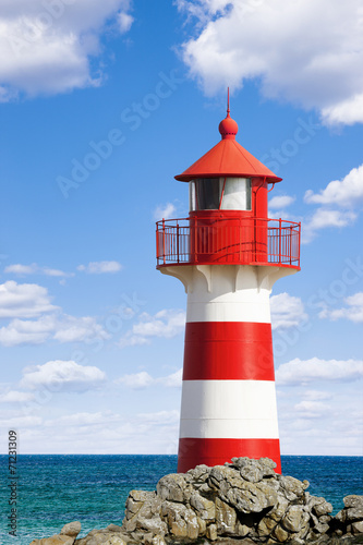 canvas print picture Leuchtturm am Ozean