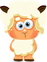 Cute cartoon vector sheep