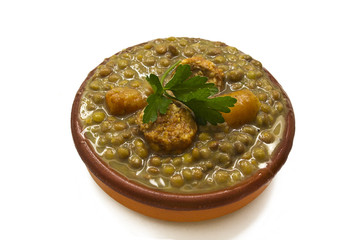 delicious lentils isolated