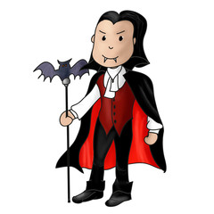 vampire halloween dessin