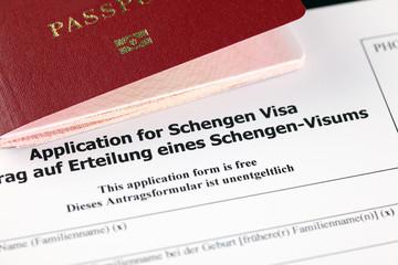 Application for Schengen visa and passport