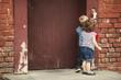 children play with intercom - 71232578