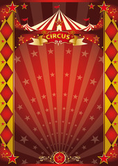 circus red and gold rhombus poster