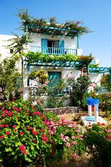 The house in traditional Greek style, Santorini island, Greece