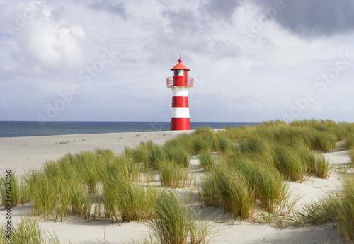 Foto op Canvas Vuurtoren / Mill Leuchtturm an der Küste