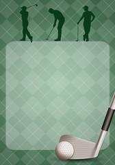 Golf club with golf ball background