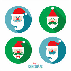 Flat design of christmas Santa.