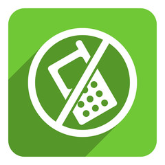 no phone flat icon