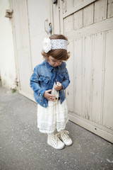 little hipster girl urban portrait