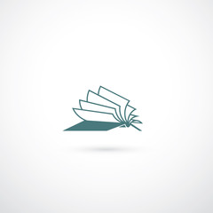Opened book symbol