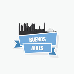 Buenos Aires ribbon banner