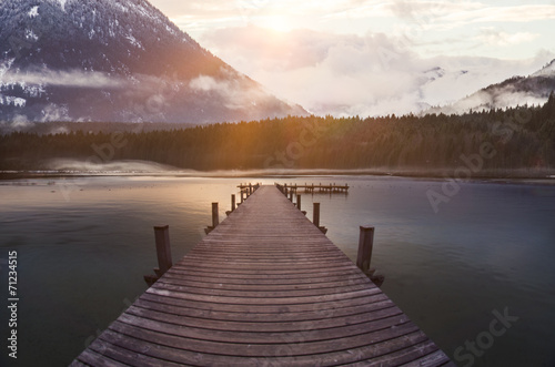 canvas print picture Alpensee
