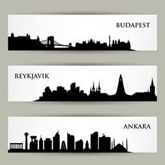 City skyline banners