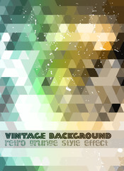 Vintage RetroDesign flyer template. Abstract background