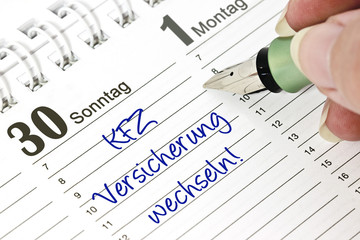 Kalender - KFZ-Versicherung wechseln!