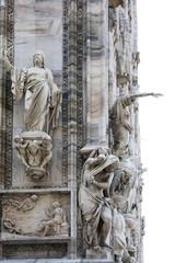 Fragment of Milan cathedral's facade (Duomo di Milano)