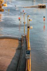 Flooded terrain in Europe