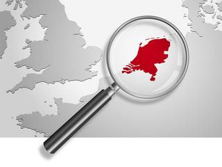 Landkarte *** Europa Niederlande