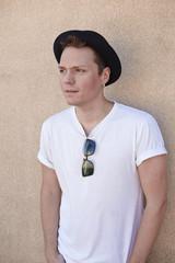 Man portrait with hat