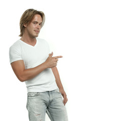 man in jeans and tshirt