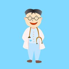 Cartoon doctor,vector