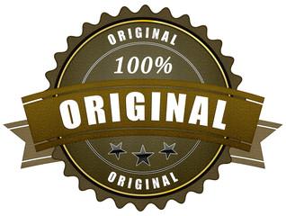 ql42 QualityLabel - gold button original - retro 2d - g1872