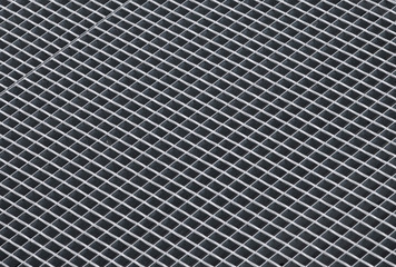 Gray rough metal grid background photo texture