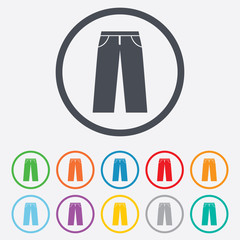 Men's jeans or pants sign icon. Clothing symbol.