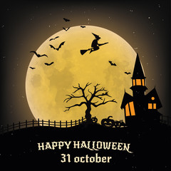 October 31 hallowen background poster
