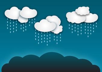 Gráfico de nuebes con lluvia